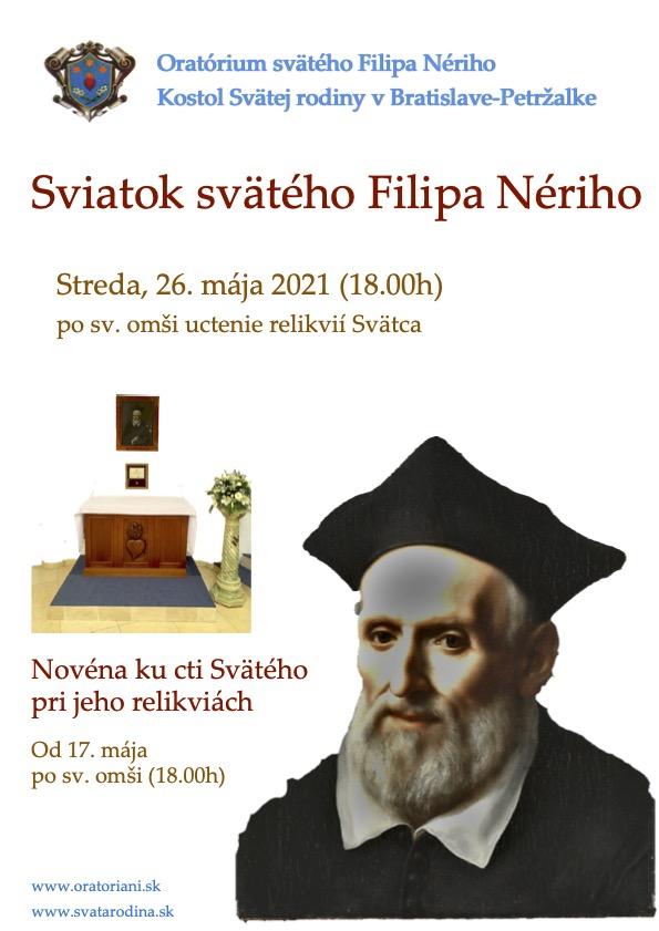 Sviatok svätého Filipa Nériho 2021